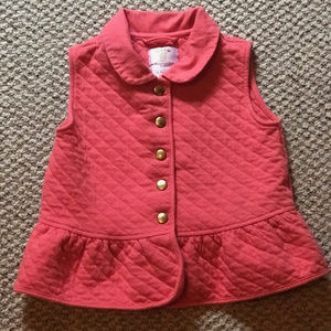 "Gymboree ""Fairy Tale Forest"" Quilted Peplum Vest"